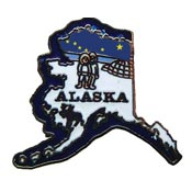 Alaska State Decorative Lapel Pin.