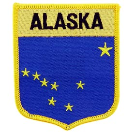Alaska Flag Patch. 2 7/8 W x 3 1/2 H.