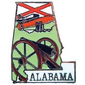 Alabama State Decorative Lapel Pin.