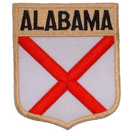 Alabama Flag Patch. 2 7/8W x 3 1/2 H.