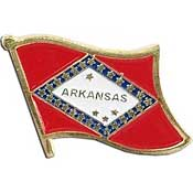 Arkansas State Flag Lapel Pin.