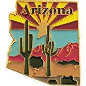 Arizona State Decorative Lapel Pin.