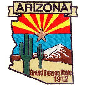 Arizona Decorative State Patch