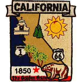 California Decorative State Patch