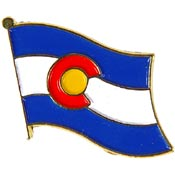 Colorado State Flag Lapel Pin.