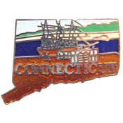 Connecticut State Decorative Lapel Pin.