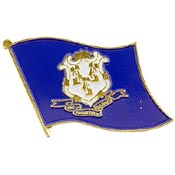 Connecticut State Flag Lapel Pin.