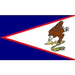 American Somoa Flag Decal. Sticker 3 1/4 x 5.
