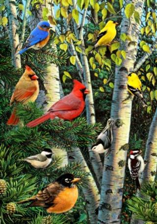Birds in Tree