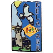 Delaware State Decorative Lapel Pin.