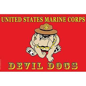 USMC Devil Dog 3x5' Polyester Flag