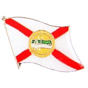 Florida State Flag Lapel Pin.