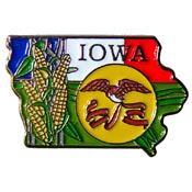 Iowa State Decorative Lapel Pin.