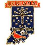 Indiana State Decorative Lapel Pin.