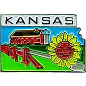 Kansas State Decorative Lapel Pin.