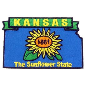 Kansas Decorative State Patch