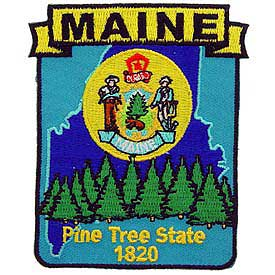Maine Decorative State Patch
