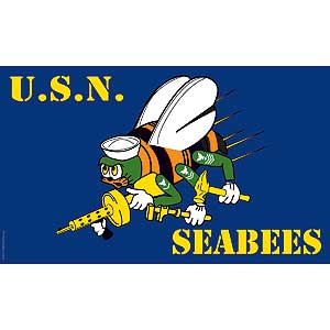 Seabees 3x5' Polyester Flag